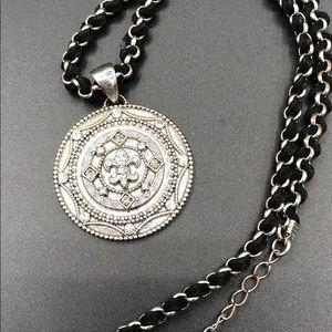 Cookie Lee Fleur De Lis Medallion Necklace